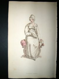 Ackermann 1815 Hand Col Regency Fashion Print. Morning Dress 14-27